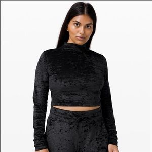 lululemon all aligned mock neck LS Special edition